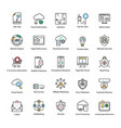 search engine and optimization icons vector image vector image