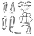 set of paper clip vector image