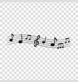 sheet music3 vector image vector image