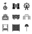 showroom icons set simple style vector image vector image
