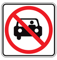 sign back car vector image vector image