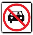 sign back car vector image
