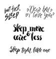sleep lettering vector image vector image