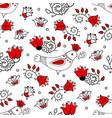 spring season seamless pattern vector image vector image