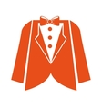 suit gentleman isolated icon vector image