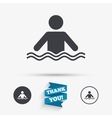 Swimming sign icon Pool swim symbol vector image vector image