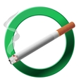 The sign smoking area vector image