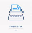 typewriter thin line icon vector image