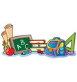 various school supplies 1 vector image vector image