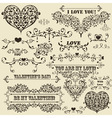 vintage Valentines detailed design vector image