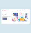 web site gradient design template business vector image vector image