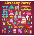 Birthday Party Decoration Set with Photo Booth vector image