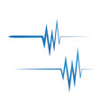 art design heartbeat pulse vector image