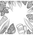 monochrome beer menu design template vector image