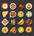 dishes icon set-2 vector image