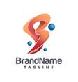3d initial b modern logo creative concept vector image vector image