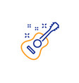 acoustic guitar line icon music sign vector image
