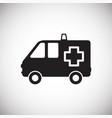 ambulance truck on white background vector image
