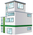 architecture design for apartment building vector image vector image