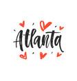 atlanta modern city hand written brush lettering vector image vector image