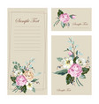 beautiful wedding cards vector image
