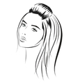 beauty vector face girl portrait vector image vector image