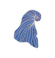 blue tropical marine underwater seashell vector image vector image
