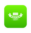 brick icon green vector image