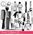 collection of beauty and fashion objects vector image vector image