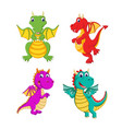 collection of the big dragon and it can fly vector image vector image