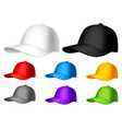 color baseball cap vector image vector image