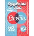 Color vintage online cinema banner vector image vector image