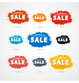 Colorful Sale Blots Icons vector image