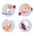 coronavirus prevention measures and hygiene vector image