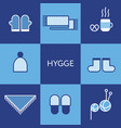 cozy knitted clothing hygge concept vector image vector image