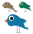 cute and funny bird vector image vector image