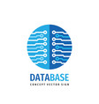 database hosting icon design computing digital vector image vector image