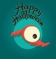 Dead eye Happy Halloween vector image vector image