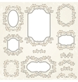 Design elements and page decoration vintage frames vector image vector image