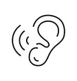 ears checking line icon concept sign outline vector image