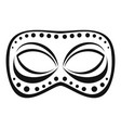 festive night mask icon simple style vector image vector image