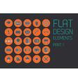 Flat design template - vector image