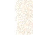 floral border on white background vector image