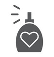 fragrance glyph icon aroma and love perfume sign vector image