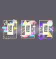 futuristic frames with abstract fluid elements vector image vector image