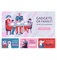 gadgets dependent banners set vector image vector image