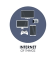 gadgets icon set Internet of things design vector image vector image