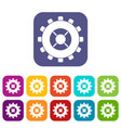 gear icons set flat vector image vector image