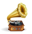 Gold gramophone vector image
