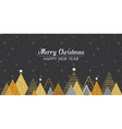 golden abstract christmas winter scene christmas vector image vector image